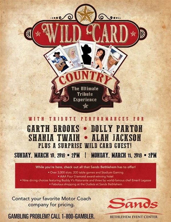 2019107 Wild Card Country at Sands Casino $20 Slot